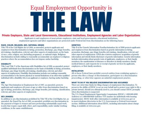 EEOC THE LAW